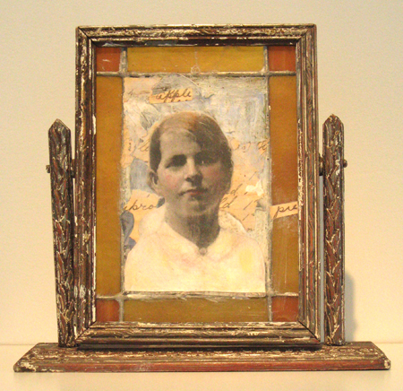 Heather Murray, Jelly Roll, 2013, mixed media/altered mirror, 8 1/2 X 7 1/2 X 2 in.