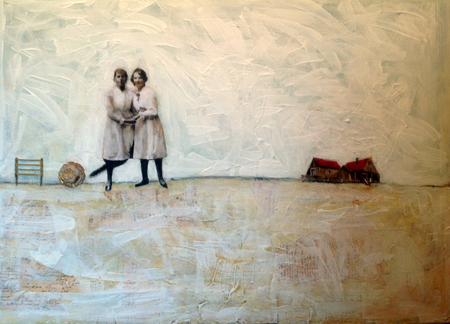 Heather Murray, A Dear and Tender Tale, 2013, mixed media on canvas, 40 X 30 in.